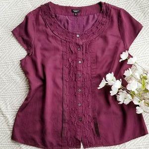 TALBOTS Silk-Cotton Shirt/Blouse